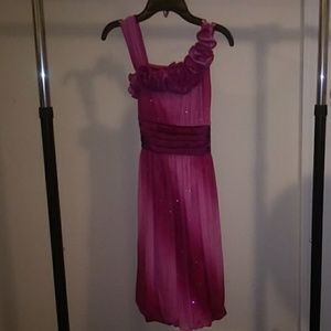 Gently Used Pink Ombre & Glitter Dress